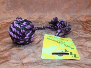 TLC Cotton Rope Ball 1 Pcs. 2 300x225 - TLC, Cotton Tugger Medium, 1 Pcs.